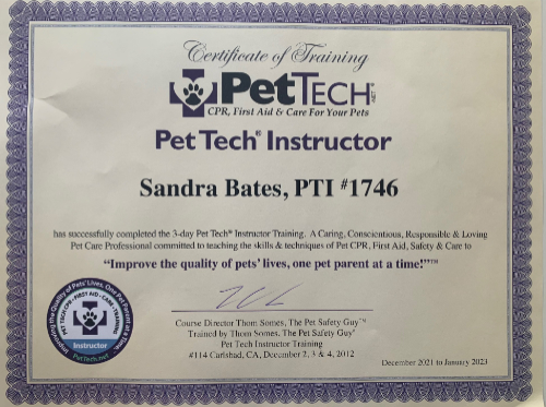 tucson paws cpr aid training critters